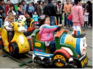 children day girl on ride