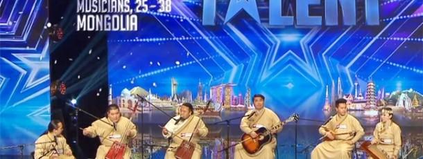 """l'équipe musicale Khusugtun a gagné 2ème prix lors du show """"ASIA'S GOT TALENT"""""""