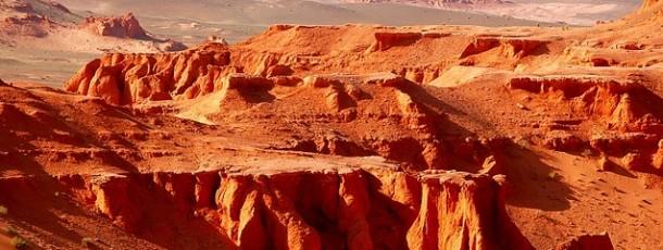 Bayanzag et les falaises rouges