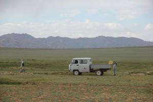 Ramassage de déchets dans le Petit Gobi