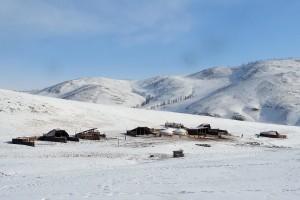 Un campement d'hiver